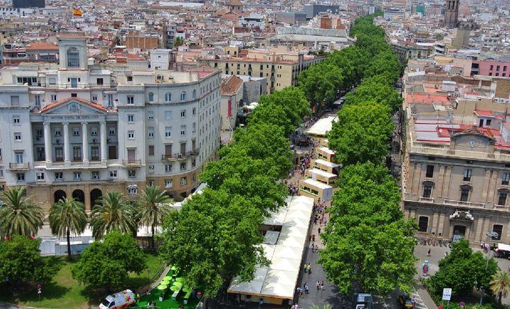 Rambla de Catalunya in Barcelona, Cataluña