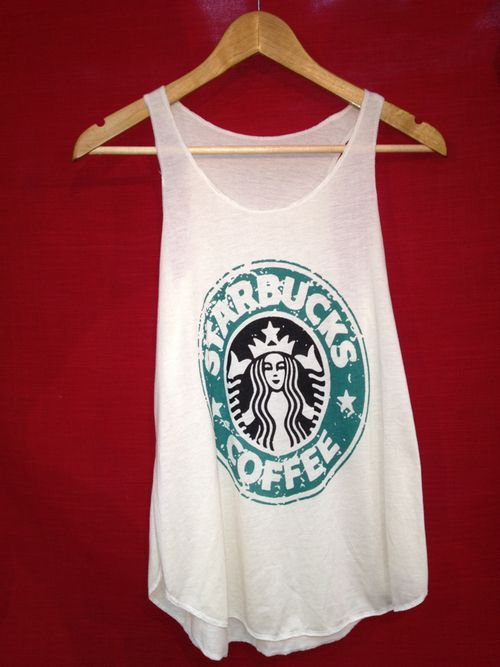 STARBUCKS TANK. With jean shirts and strappy sandals! :D