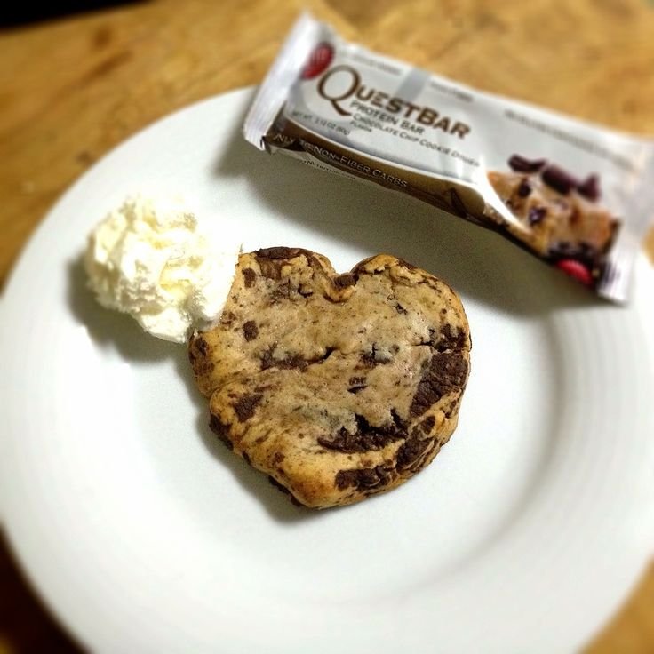 baked quest bar. 375 for 6 minutes. ahhh-mazing.  who needs cookies when this…