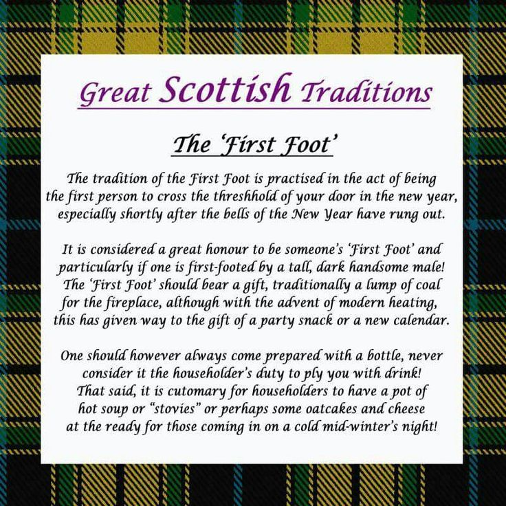 Scottish Traditions - First Foot