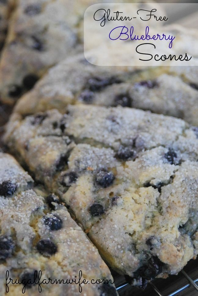 Light, tender, Gluten-free Blueberry Scones. Best breakfast treat ever!