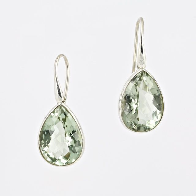 Green Amethyst and sterling silver