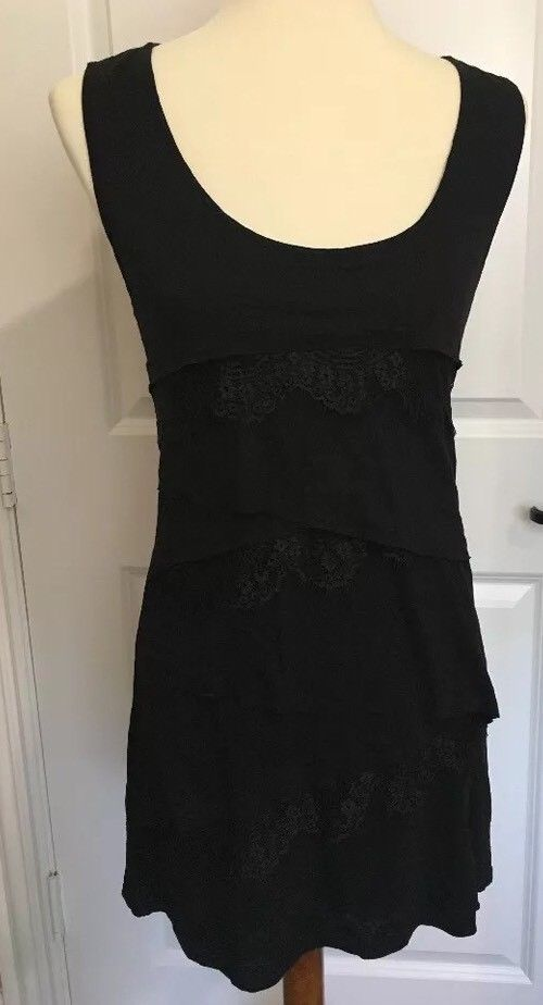 Women s Size XS New York   Company Street Wear Black Lace layered Dress  NWTS  f1ab293565