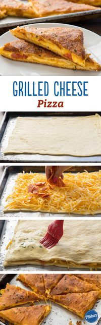 Grilled Cheese Pizza: What could be better than combining the two ultimate comfort foods: grilled cheese and pizza? This tasty mash-up will have everyone asking for more!
