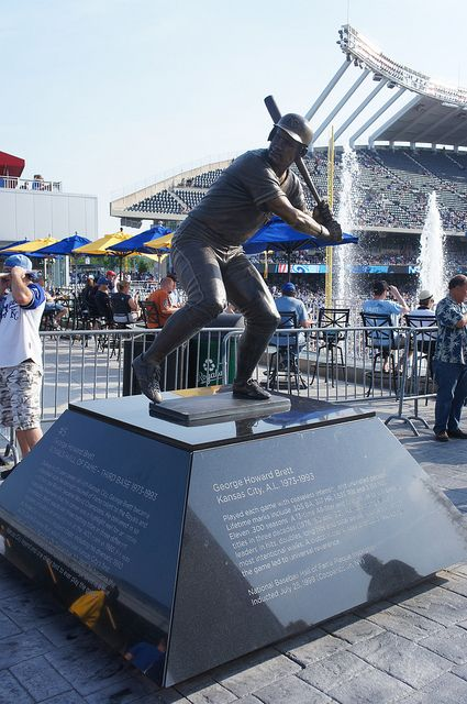 George Brett Statue, Kauffman Stadium, Kansas City, MO (Royals)