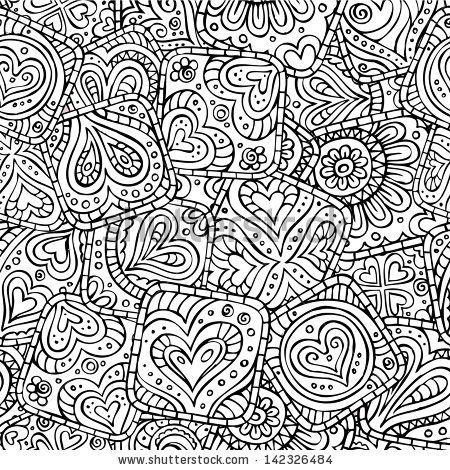 Love and feeling theme seamless pattern
