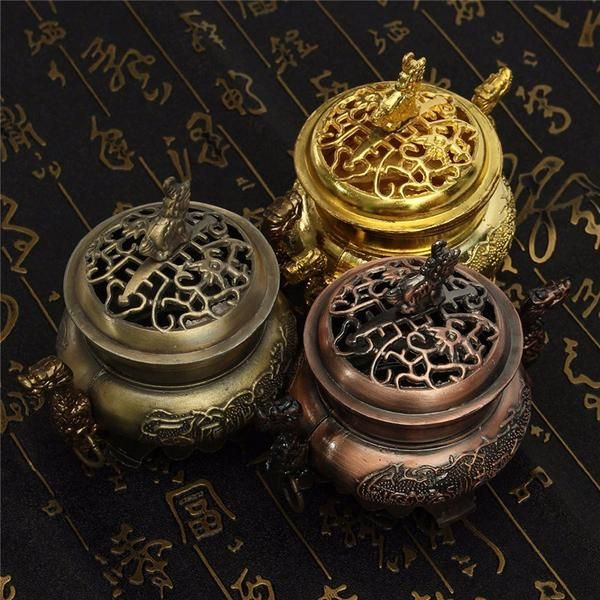 FREE SHIPPING, Multifunction Metal Craft Mini Alloy Antique Bronze Incense Burner for aromatherapy