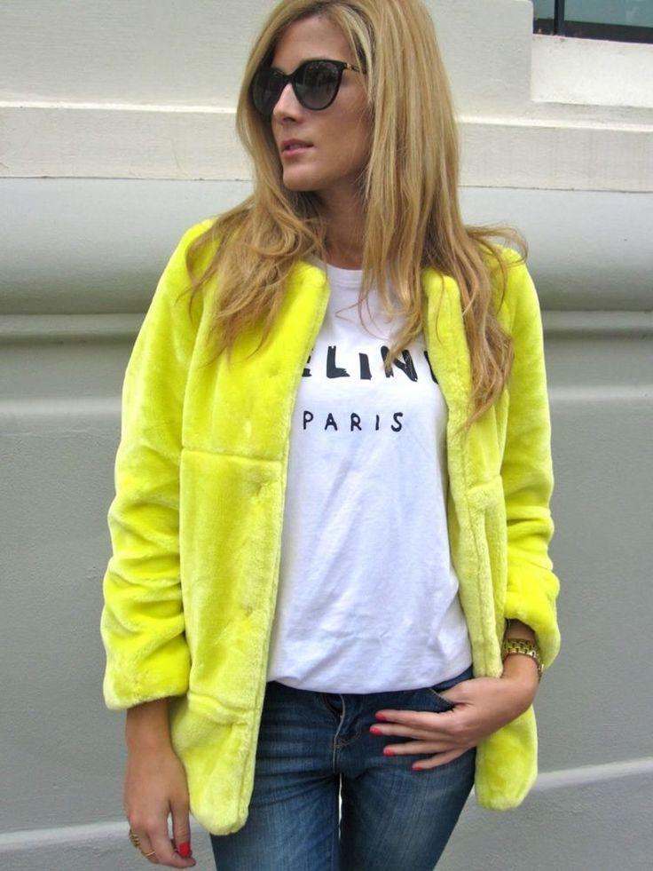 17 Best images about Yellow Coats :) on Pinterest | Faux fur coats ...