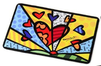 Amazon.com: Romero Britto Large Heart Dog Or Cat Food Mat: Home & Kitchen