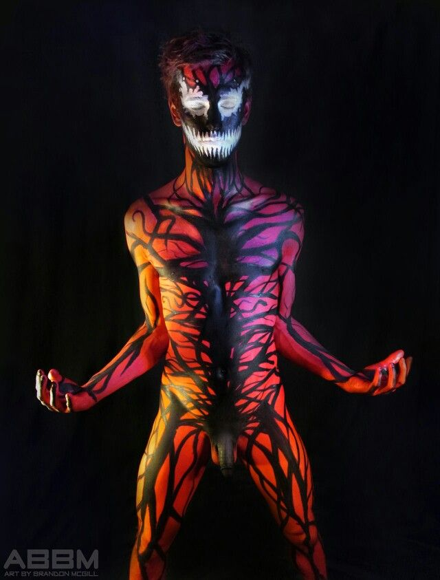 Amazing venom painted teen with toys on cam 9