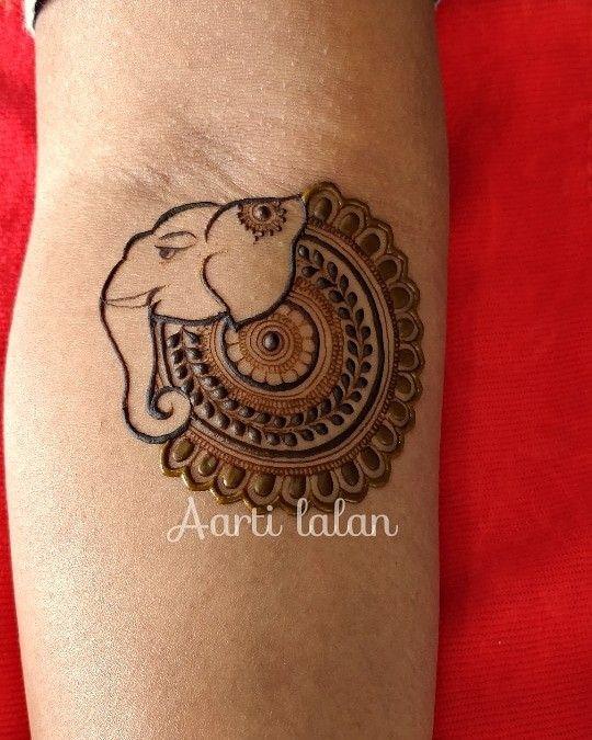 5b31e4cf4 Elephant Henna tattoo! Awww how cute?! | Indian | Henna designs ...