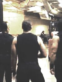 Why are you walking like that Dean?? RY taught me this walk. Ha-Ha!!! That's the way she walks.