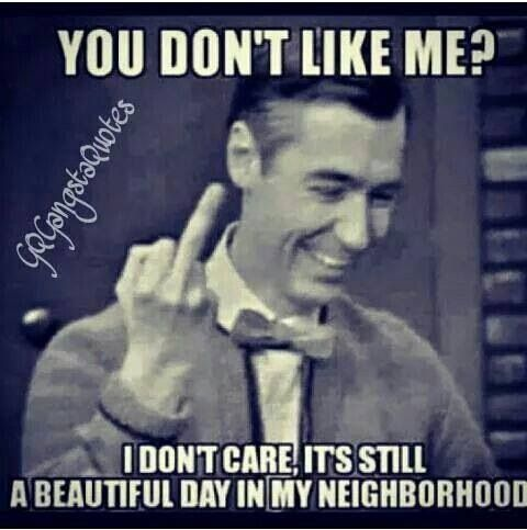Oh, Mr. Rogers...!!!