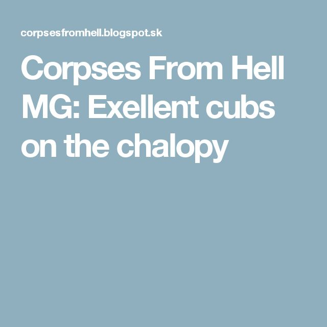 Corpses From Hell MG: Exellent cubs on the chalopy