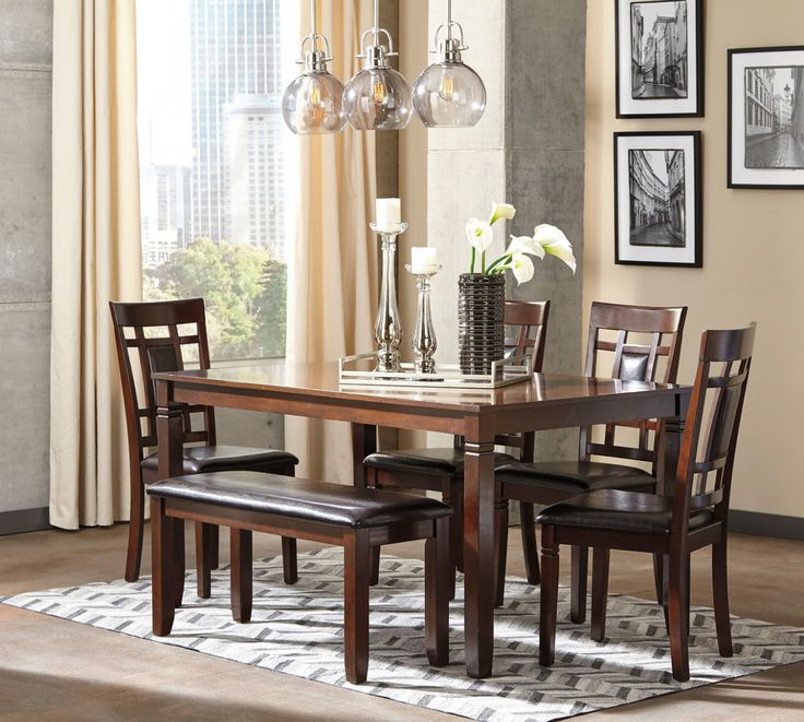 Bennox Brown Dining Room Table Set   Kitchen Table Sets ...