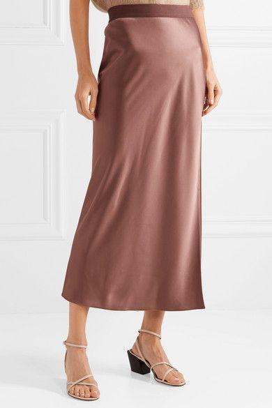 3c1d5e5dedfadd Theory - Satin maxi skirt | My Style | Skirts, High waisted skirt, Satin