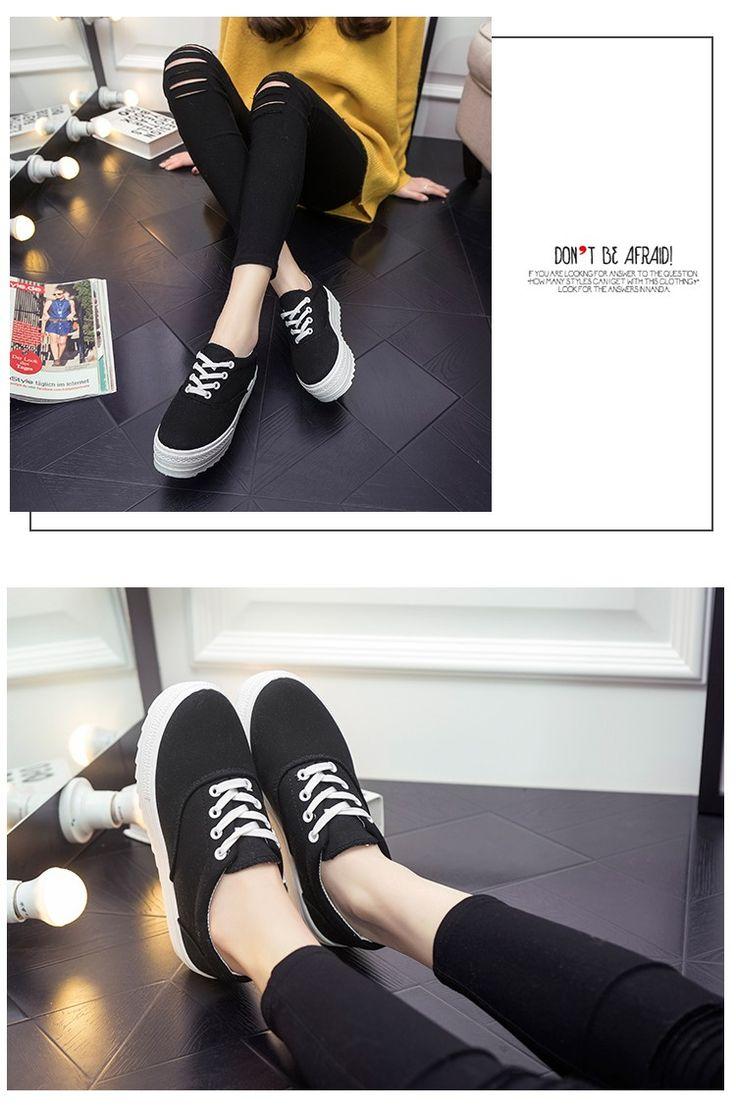 Platform Creepers Women's Platform Fashion Canvas Shoe female Breathable Casual Shoes