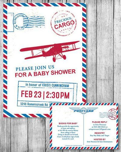 Precious Cargo Vintage Travel Baby Shower By I Heart To Party. Precious  Cargo Baby Shower, Airplane Baby Shower, Baby Showers For Boys.