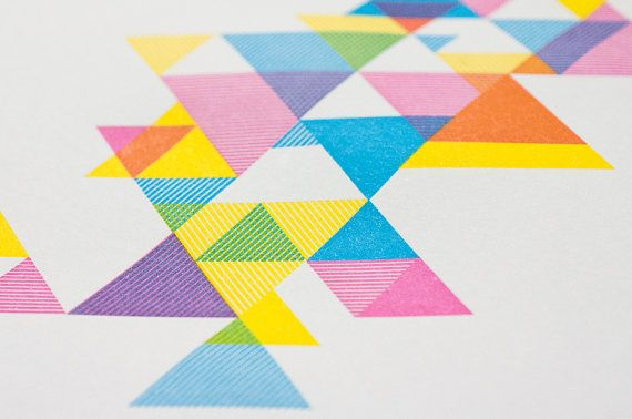 CMY Hey! Process Color Triangle Print by Design des Troy