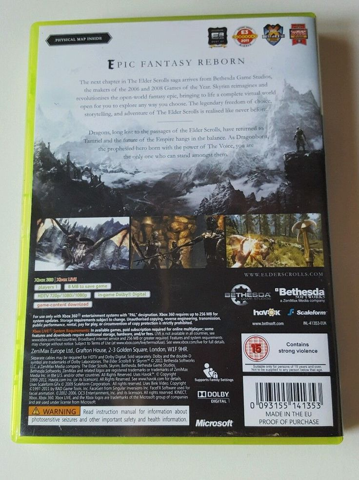 Xbox 360 The Elder Scrolls V: Skyrim (Xbox 360) VideoGames  in Video Games & Consoles, Video Games | eBay!