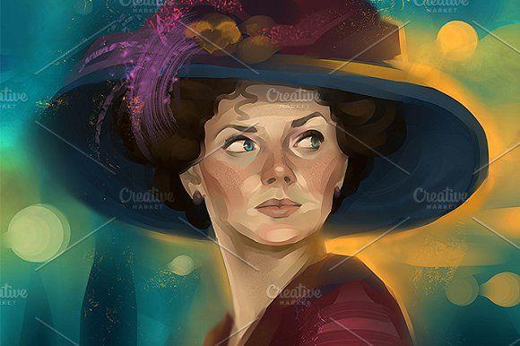 Woman portrait by Irene on @creativemarket