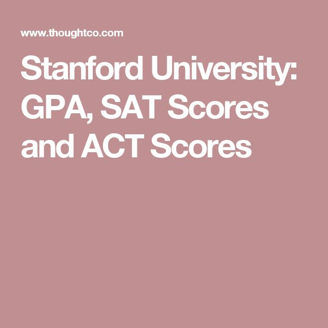 Stanford University: GPA, SAT Scores and ACT Scores