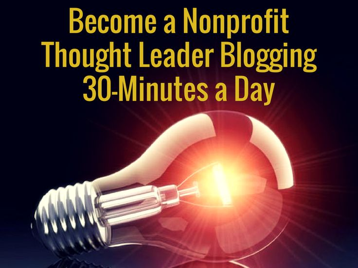 """March 28, 2017: """"Become a Nonprofit Thought Leader Blogging 30-Minutes a Day"""" [Waters Uncharted]"""
