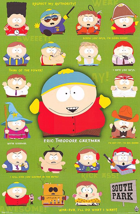 The many faces of Cartman!!!