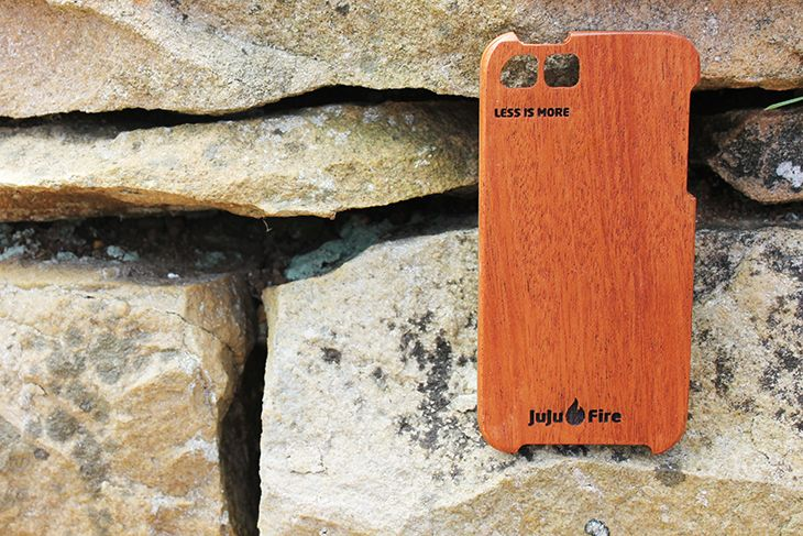 JuJuFire. Mahogany. Less is more. iPhone 5 & 5s.