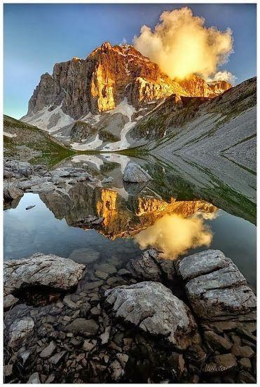 Astraka Peak & Dragon lake (Drakolimni) in Konitsa, Epirus, Greece.