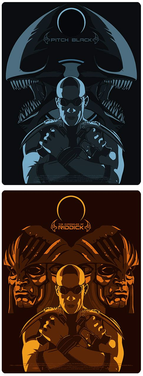 Pitch Black & The Chronicles of Riddick - movie posters - Stephen Sampson