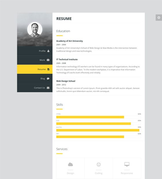 this resume and cv joomla theme includes a drag and drop layout builder a working - Resume Cv Joomla Template