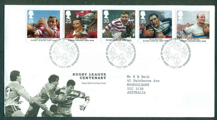 GB 1995 Rugby League Centenary