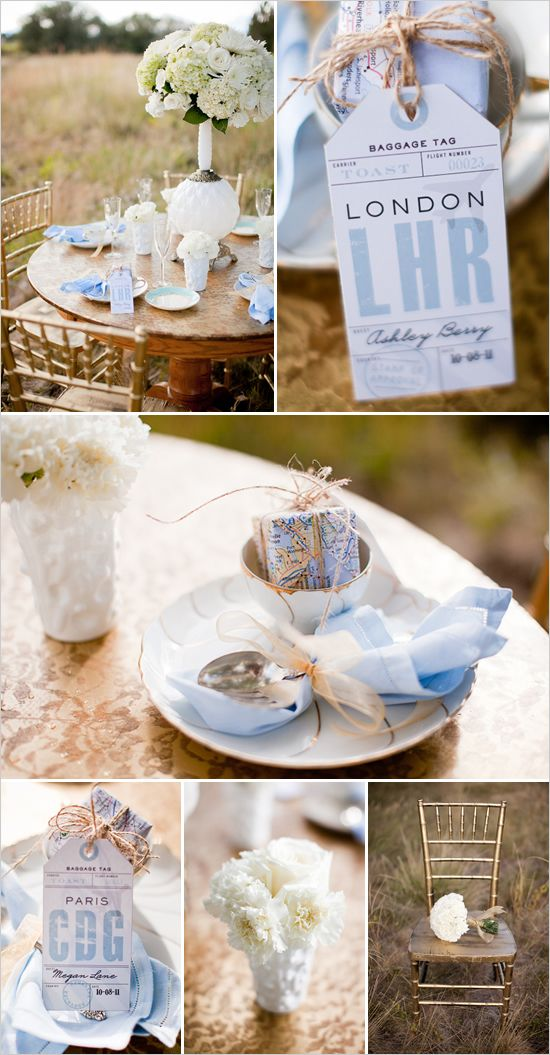 Travel Wedding Theme decoration ideas