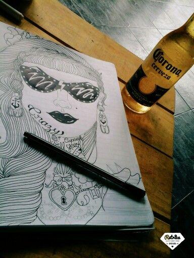 Mi dibujo  con conpania de una corona