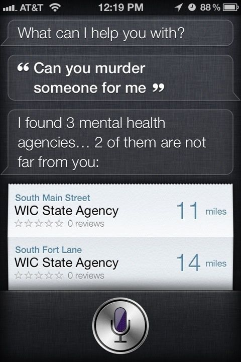 If you ask Siri...