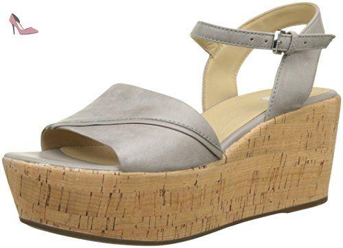 Geox D Sakely A, Sandales Bout Ouvert Femme, Gris (LT GREYC1010), 36 EU - Chaussures geox (*Partner-Link)