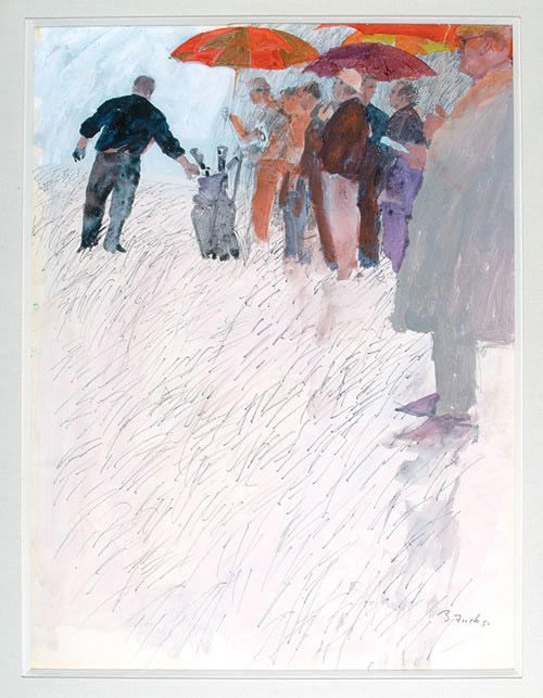 """The Tournament"" 1964 Sports Illustrated Original Cover Painting by Bernie Fuchs."