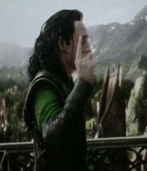 """Looks like Loki is saying """"You had one job!"""""""