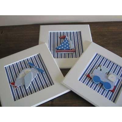 Cuadros En Relieve-cuadritos Infantiles Fibrofacil Pintados - $ 999,00