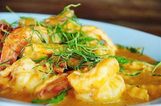 Shrimp in Spicy Coconut recipe (Chu Chee Goong Lai)