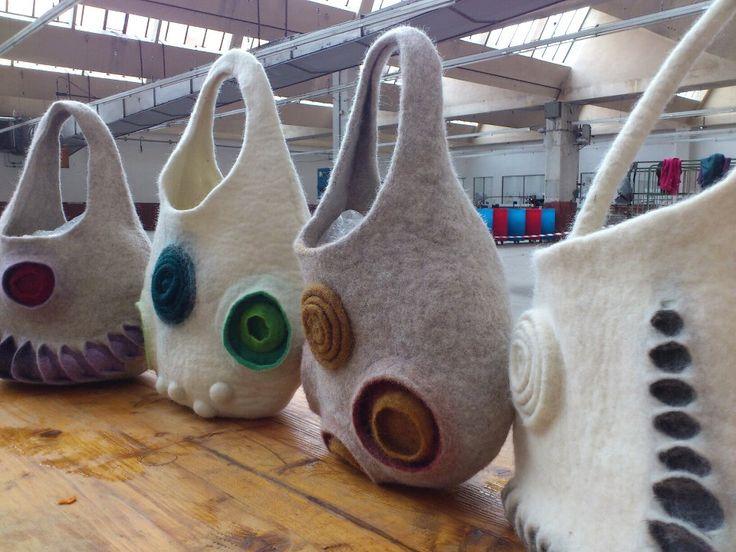 Michela Gregorietti workshop at Feltrosa 2012 (Italian Feltmakers Convention)