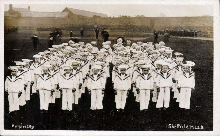 Sheffield. Empire Day by M & S # 2. Boys in Royal Navy Uniform. | eBay