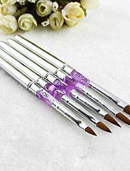 5+PCS+Akrilik+UV+Gel,+Nail+Art+Desain+Pena,+Polish+Sikat+Lukisan+Alat+Manicure+Kit+–+USD+$+13.98
