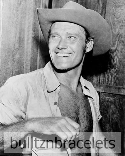 CHUCK CONNORS ACTOR DAD ON THE RIFLEMAN TV WESTERN BARECHESTED 8x10 PHOTO 2
