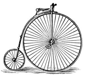 Antique Columbia Bicycle Clip Art ~ Free Vintage Image