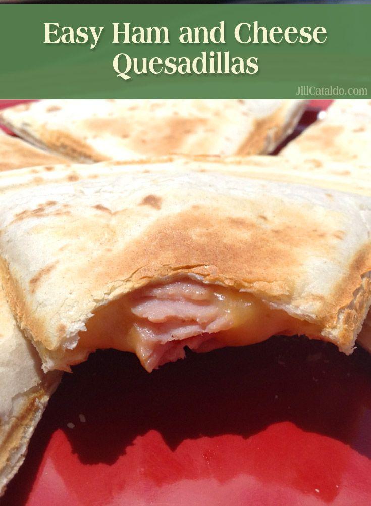 Easy Ham & Cheese Quesadillas! (Kids love these!)