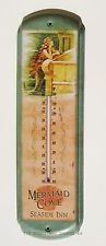 Mermaid Cove THERMOMETER tin vtg rustic metal wall home decor sign nautical OHW