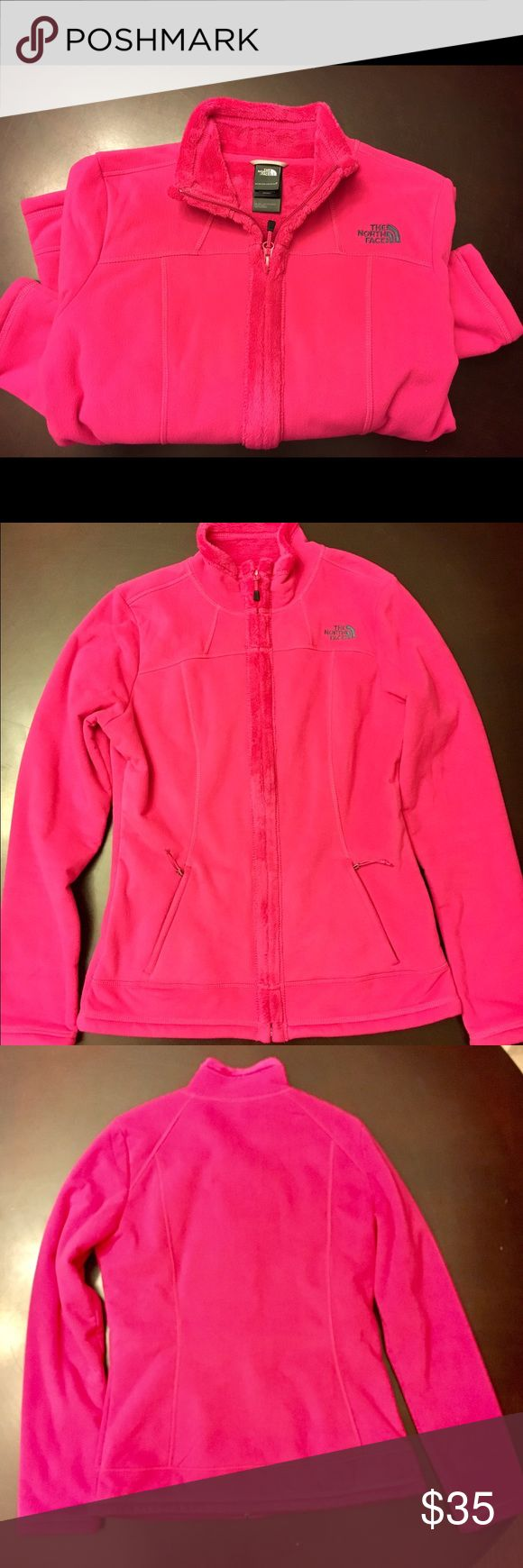North Face Hot Pink Fur Jacket North Face fur jacket - hot pink.  Fur lined in the inside. Great condition - worn only a few times. The North Face Jackets & Coats