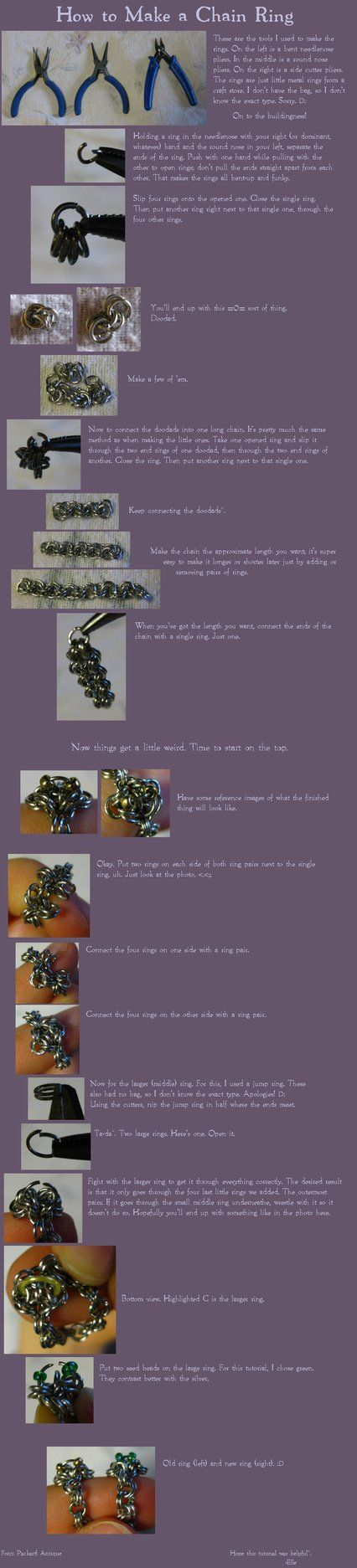 Chain Ring Tutorial by ~TheElle on deviantART